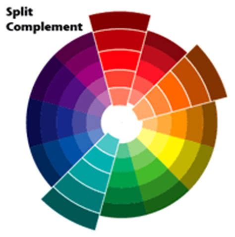 split complementary color scheme principles of visual design instructor brian schrank
