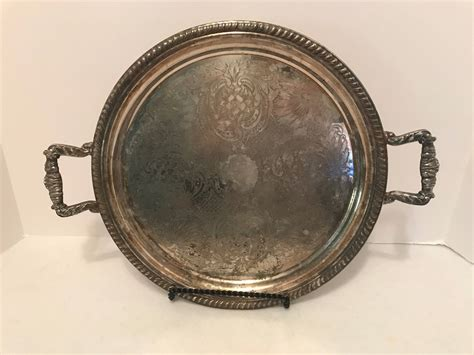 Vintage Silber by Vintage Silver Serving Tray