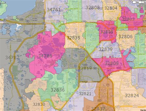zip code map orlando sw zip orlando first time home buyer guide
