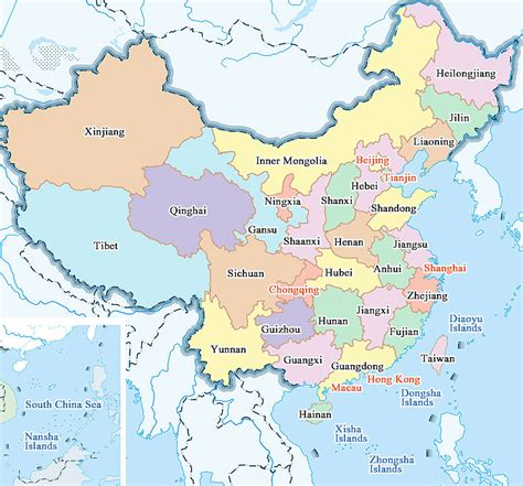 asia map china map of china maps of city and province travelchinaguide