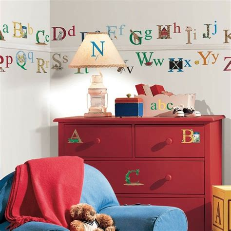 alphabet removable vinyl wall decals kids room decor
