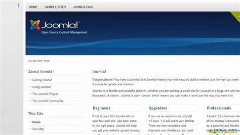 joomla tutorial pdf 2 5 joomla tutorial 2 5
