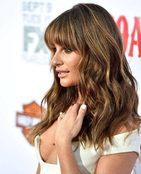 Which Hair Colour Does Lea Michele Wear For Loreal | radiant rachel lea michele flashes cleavage in tiny dress