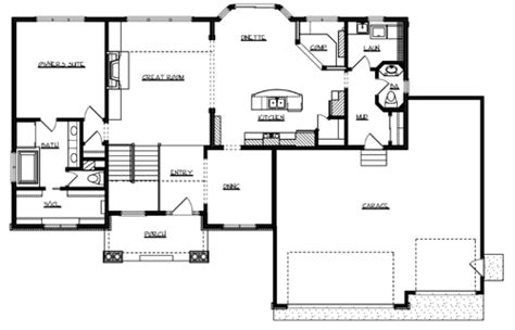 main floor plans richmond 1035 3 bedrooms and 2 baths the house designers