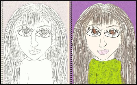 Drawing 8 Year by Your 8 Year Me Self Portrait Bell