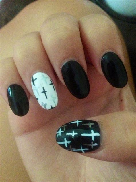 cross pattern nails pointy nails designs with cross joy studio design