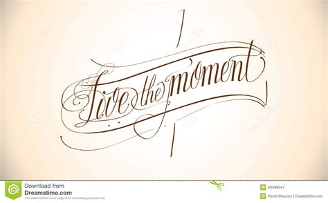 tattoo meaning live in the moment live the moment stock vector image 40488541