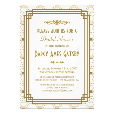 personalized roaring 20s invitations custominvitations4u com