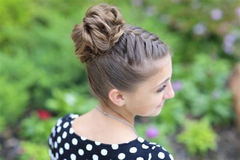 pictures on bun type hairstyles cute girl hairstyles double french braid high bun updo cute girls hairstyles