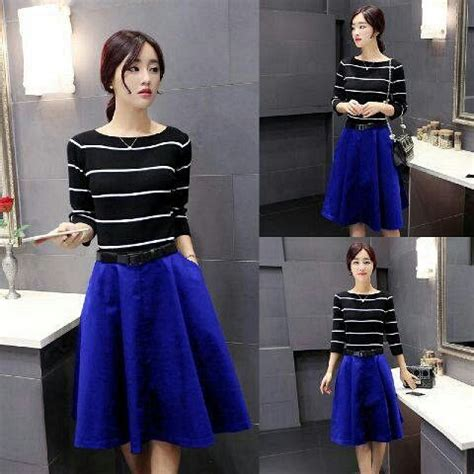 Mini Dress Glamor Dress Wanita Keren Dress Kaos Dress Distro Ll baju mini dress belang cantik model terbaru murah