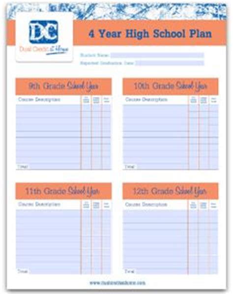 high school planner template high school credit planner high school years word doc