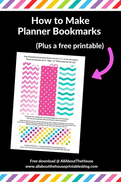 printable planner markers how to make a planner bookmark diy page markers tutorial
