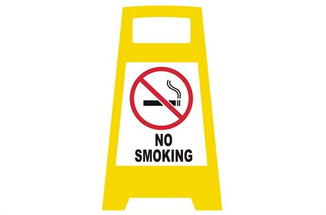 no smoking sign with stand sign stands swing stands national safety signs