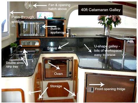 small boat kitchen ideas galley design issues on a catamaran