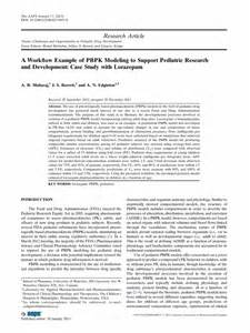 Case Study Research Paper Example A Workflow Example Of Pbpk Modeling To Support Pediatric