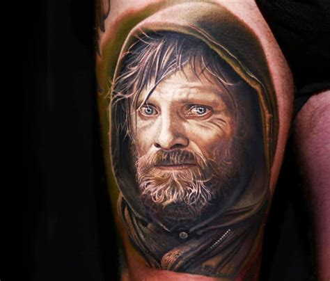 nikko hurtado tattoo viggo mortensen by nikko hurtado no 2295