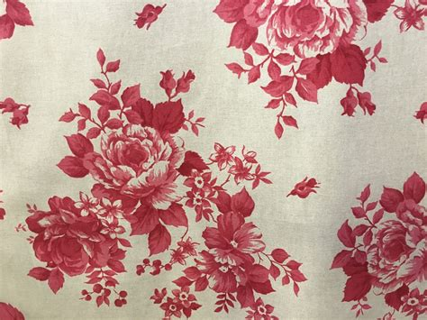 red floral upholstery fabric red faded rose floral fabric 280cm wide the lshade barn