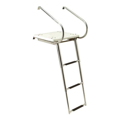 ladder for swim platform on boat seachoice universal swim platform with slide mount ladder