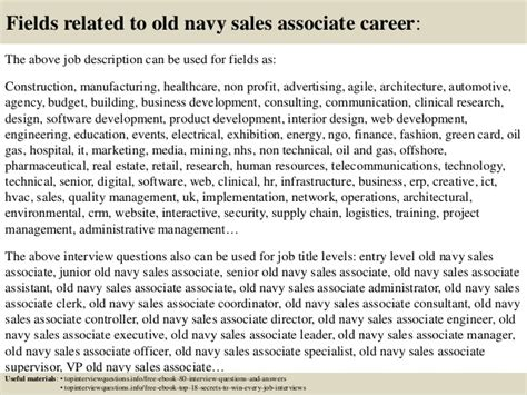 top 10 navy sales associate questions and answers