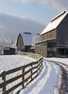 Old Barn Winter Snow