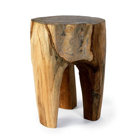 Wooden Stool by Three Leg Carved Wooden Stool By Out There Interiors