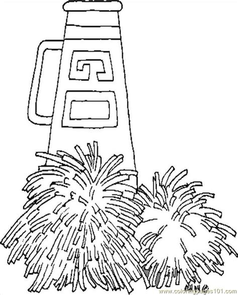 Pom Pom Coloring Pages free pom poms and megaphone coloring pages