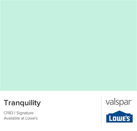 tranquility from valspar color schemes