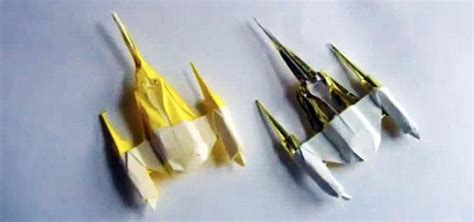 origami starfighter how to fold an origami naboo starfighter and other