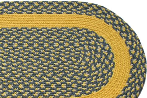 yellow braided rug williamsburg blue yellow block yellow band braided rug