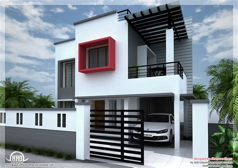 1800 square floor 4 bhk modern home design 1800 sq modern contemporary villa kerala home design and floor plans