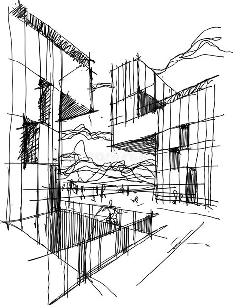 Architectural Abstract Sketch Stock Illustration