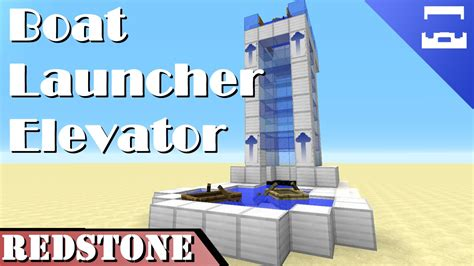 minecraft boat redstone boat launcher elevator minecraft redstone tutorial 1 9