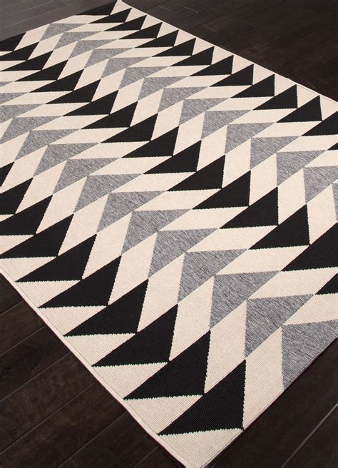 black grey and rugs jaipur patio pao04 black and gray rug patio collection by jaipur jaipur patio pao04 black
