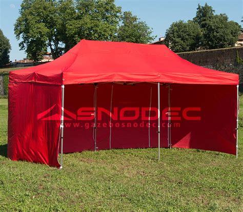 gazebo pieghevoli prezzi gazebo pieghevole 3x6 rosso alluminio 50mm prezzo