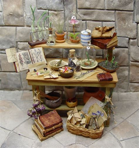 miniature accessories for doll houses miniature herb bench by ericka vanhorn miniature accesories pinterest