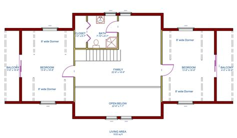20 x 24 cabin floor plan with loft 20 x 24 cabin floor
