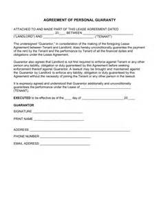 rent guarantor form template free real estate lease personal guarantee form pdf