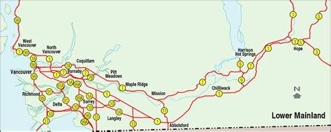 printable bc road map interior map of bc images