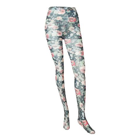 floral pattern tights uk adidas selena gomez women flower pattern tights size uk