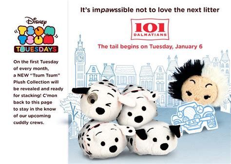 theme changer line 101 dalmatians 101 dalmatians tsum tsum coming to disney stores january