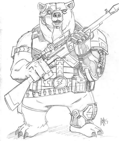 cyborg bear by 0nslaught17 on deviantart