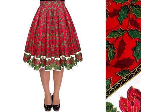 deep red tree skirts skirt tree skirt pleated midi skirt vintage skirt border skirt pin up