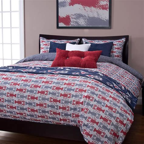 nautical bed sets nautical lobster blue bedding set cabin place