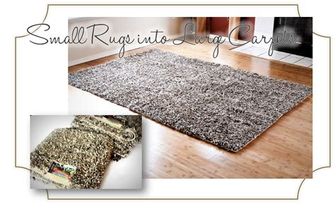finding aloha diy how to turn accent rugs into large