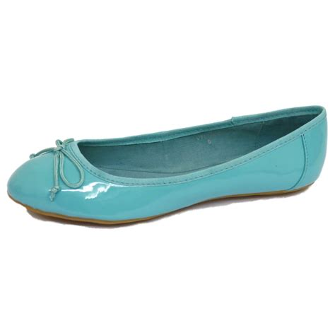 flat turquoise shoes womens turquoise dolly flat ballet patent