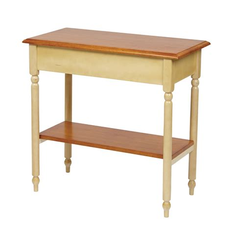 foyer accent tables wood country buttermilk cherry finish foyer hall entry