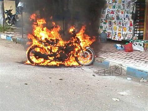 Kran Bensin Satria F suzuki satria f terbakar karena isi bensin luber
