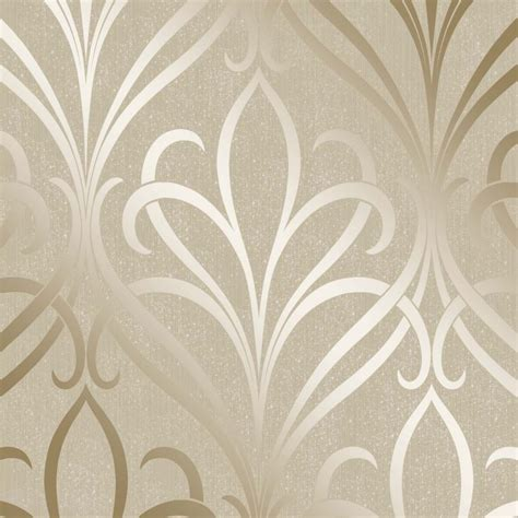 buy gold wallpaper uk henderson interiors camden damask wallpaper cream gold