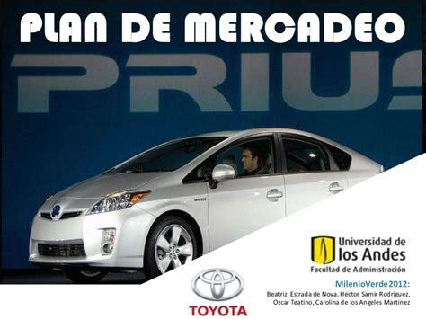 Toyota Prius Colombia Presentacion Plan De Mercadeo Toyota Prius En Colombia