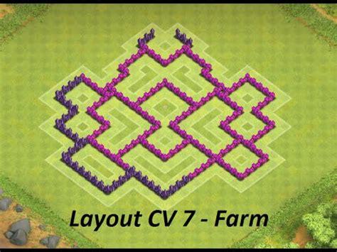 layout cv 7 farming youtube layout de farm cv 7 th7 youtube